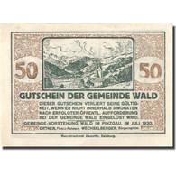 Billet, Autriche, Wald, 50 Heller, Montagne, 1920, SPL, Mehl:FS 1129Ia - Autriche