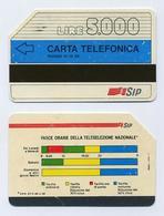 Télécarte Italienne 5000 Lires Année 1989 Avec Bande Magnétique SIP Utilisée - Italie