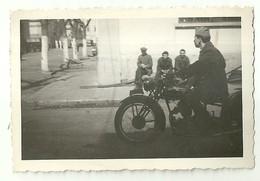 """3883 """"MILITARE IN MOTO-1947"""" FOTO ORIGINALE - Guerra, Militari"""