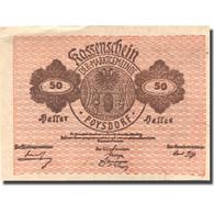 Billet, Autriche, Poysdorf, 50 Heller, Blason 1920-12-31, SUP  Mehl:FS 776a1 - Autriche