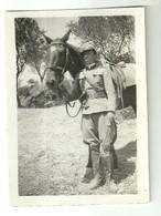"""3884 """"UFFICIALE D'ARTIGLIERIA CON CAVALLO-1931"""" FOTO ORIGINALE - War, Military"""