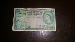 BRITISH CARIBBEAN TERRITORIES 5 DOLLARS 1961 - Oostelijke Caraïben