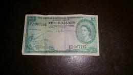 BRITISH CARIBBEAN TERRITORIES 5 DOLLARS 1961 - Caribes Orientales