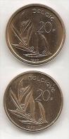 20 Frank 1990 Frans+vlaams * Uit Muntenset * FDC - 07. 20 Francs