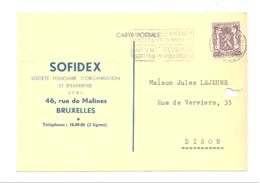 """Carte Pré Imprimée """" SOFIDEX """" Bruxelles 1948 - Fiduciaire  (van) - Publicité"""
