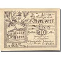 Billet, Autriche, Ziersdorf, 10 Heller, Monument 1920-12-31, SPL Mehl:FS 1276a - Autriche