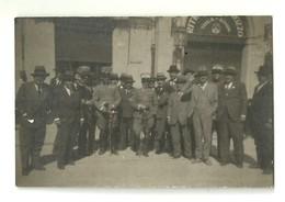 """3886 """"FOTO DI GRUPPO UFFICIALE E CIVILI - I WW"""" FOTO ORIGINALE - War, Military"""