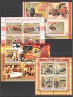 R1097 2008 S.TOME E PRINCIPE FIRE TRUCKS AS VIATURAS DOS BOMBEIROS CARS FORD 2KB+2BL MNH - Automobili