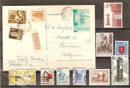 Boîtes Aux Lettres - Petit Lot De 21° Dont 1 Entier Postal Hongrois Avec Mention Expressz - Poste - Stamps