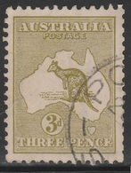 Australia 1915 - SG 37, 3d - KANGAROO & MAP OF AUSTRALIA - VFU - 1913-48 Kangaroos