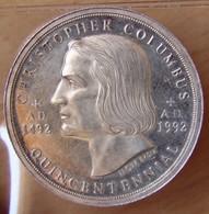 Amérique Médaille Argent  5 éme Centenaire Découverte De L'Amérique 1492-1992 - Professionnels/De Société