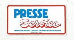 Autocollant, Journal ,  Hebdomadaire Gratuit De Petites Annonces ,  PRESSE SERVICE ,  155 X 80 Mm - Autocollants