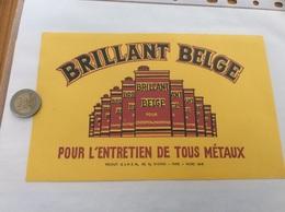 Buvard ** «BRILLANT BELGE - POUR L'ENTRETIEN DE TOUS MÉTAUX - PARIS» - Pulizia