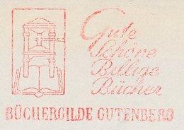 Meter Cut Germany 1967 Book - Printing Press - Gutenberg - Stamps