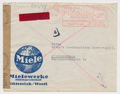 Censored Meter Cover Deutsche Reichspost / Germany 1940 Washing Machine - Miele - Stamps