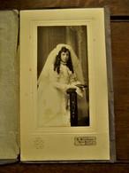 Antieke Foto  FARDE Met Gouddruk Foto Op Stevig Karton  R. BLondiau  ALOST - Oud (voor 1900)