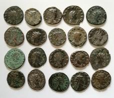 Lotto 20 Antoniniani Tutti Diversi. Gallienom, Salonina, Claudio II E Aureliano - 5. The Military Crisis (235 AD To 284 AD)