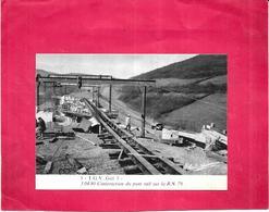 T G V Get 3 - Construction Du Pont Rail Sur La R N 79  Le 3.04.80  -  ARD - - Ouvrages D'Art