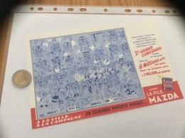 Buvard «LA PILE MAZDA - À LA VILLE, À LA CAMPAGNE» (dessin Hubou) - Electricité & Gaz