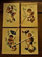 Lot Van 4 Stuks Oude Postkaarten L. K. D.       Padvinderij Van Rond 1946 - Scoutisme