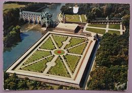 CHENONCEAUX - Le Chateau Et La Tour Des Marques, Vue D'avion - Indre Et Loire - Chateaux De La Loire - Jardin Vg F2 - Chenonceaux