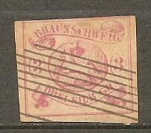 BRUNSW - Yv. N° 10 Mi. N°12  FAUX  (o)  3s Rose   Cote  260 Euro  BE  2 Scans - Brunswick