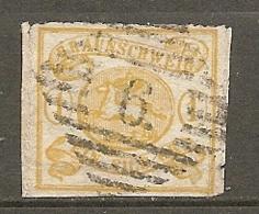 BRUNSW - Yv. N° 11 Mi. N°14A  Percé En Scie FILIGRANE    (o)  1s Jaune   Cote  170 Euro  BE  2 Scans - Brunswick