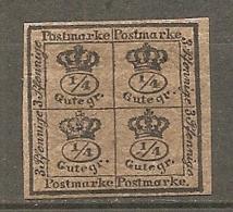 BRUNSW - Yv. N° 16 Mi. N°9  FILIGRANE Wz1  *  4/4g  Noir S Brun   Cote  55 Euro  BE  2 Scans - Braunschweig