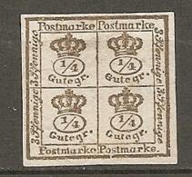 BRUNSW - Yv. N° 16 Mi. N°9  FILIGRANE Wz1  (*)  4/4g  Bistre   Cote  10 Euro  BE  2 Scans - Brunswick