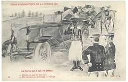 Cpa Signée Jarry - Série Humoristique De La Guerre 1914 - Le Turco ..tirailleur Sénégalais, Anti-allemande, Guillaume ) - Otros Ilustradores