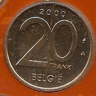 20 Frank 2000 Vlaams * Uit Muntenset * FDC - 1993-...: Albert II