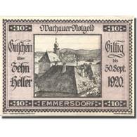 Billet, Autriche Emmersdorf 10Heller Eglise 1920 SPL Violet Mehl:FS 1122.5IIa - Autriche