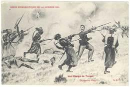 Cpa Signée Jarry - Série Humoristique De La Guerre 1914 - Une Charge De Turcos, Tirailleurs, Anti-allemande, Guillaume ) - Otros Ilustradores