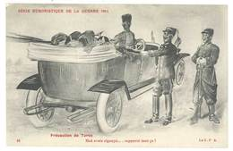 Cpa Signée Jarry - Série Humoristique De La Guerre 1914 - Automobile ... Turco, Tirailleur, Anti-allemande, Guillaume ) - Otros Ilustradores