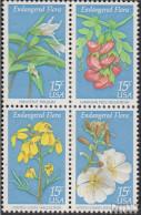 USA 1386-1389 Viererblock (kompl.Ausg.) Postfrisch 1979 Naturschutz: Blumen - United States