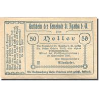 Billet, Autriche, St Agatha, 50 Heller, Château 1920-09-30, SPL Mehl:FS 877Ia - Autriche