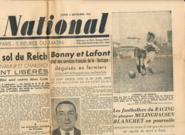 FRONT NATIONAL, N° 13, Lundi 4 Septembre 1944, Reich, Metz, Nancy, Abbeville, Mons, Charleroi, Bonny Et Laffont, Gestapo - Journaux - Quotidiens