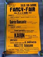 Affiche Fancy-fair Solre Sur Sambre 1982, Soirée Dansante, Institut De La Sainte Union, Concert - Affiches