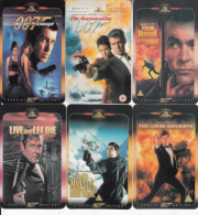 UK - James Bond 007, Set Of 6 UK Prepaid Cards 20 Units, Exp.date 10/03, Mint - Phonecards