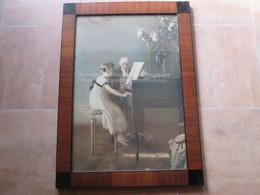 Tableaux  . T. Beau Cadre . La Lecon De Piano . J A Muenier Die Erste Klavierstunde - Autres Collections