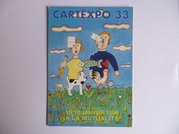 CPM Paris  CARTEXPO 33 Illustrateur Jean Duranel  Maison De La Mutualité 1999 Numéroté 742 - Collector Fairs & Bourses