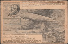 Lembrança Da Visita Do Graf Zeppelin Ao Brasil, C.1930 - Bilhete Postal - Airships