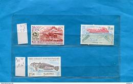 T A A F Poste Aérienne N°143-à145 Neufs Sans Ch Impec- Faciale71frs=10 80eu - Australian Antarctic Territory (AAT)