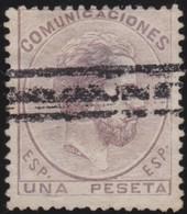 ESPANA  .      Yvert   126     .       O       .         Cancelled      .    /   .  Oblitéré - 1872-73 Regno: Amedeo I