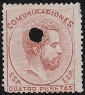 ESPANA  .      Yvert   127    .       O       .         Cancelled      .    /   .  Oblitéré - 1872-73 Reino: Amadeo I