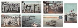 Lot De 7 CPA La Vie Du Marin - Sailor Life - Régiments
