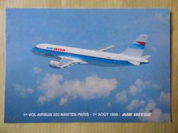 AIR INTER   AIRBUS A 320 /   AIRLINE ISSUE / CARTE COMPAGNIE - 1946-....: Era Moderna