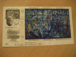 NEW YORK 1967 Chagall Window FDC Cancel Cover United Nations UN - New-York - Siège De L'ONU