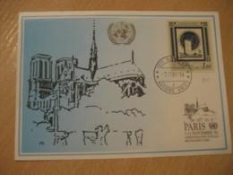 GENEVE 1991 40thy Anniversary Paris France Cancel Maxi Maximum Card United Nations UN Switzerland - Genf - Büro Der Vereinten Nationen