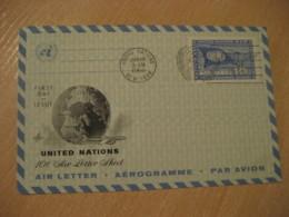 NEW YORK 1960 10c Air Mail Air Letter Aerogramme United Nations UN USA - New-York - Siège De L'ONU